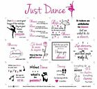 FABRIC PANEL~JUST DANCE~BLOCK PARTY STUDIOS~INSPIRATIONAL SAYINGS ON DANCE