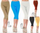 AU SELLER Womens Casual Stretch Skinny 3/4 Pencil Pants Leggings Shorts P014