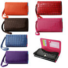 Wallet XXL Cash & Credit Card Alligator Case for Nokia Lumia 1520 (Seven Colors)