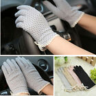 Women Summer Slip-resistant Dot Cotton Ultraviolet Sunscreen Thin Driving Gloves