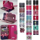 For Alcatel One Touch Fierce 2 Cell Phone Case Hybrid PU Wallet Pouch Flip Cover