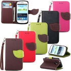 New Leather Flip Stand Pouch Wallet Credit Card Clip Skin Soft Rubber Cover Case