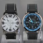 Men Alloy Quartz Wrist Watch with Rubber Band Strap 3 slim hands Wristwatches
