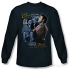 Long Sleeve: Elvis Presley - Tupelo T-Shirt Navy