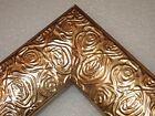 "2.3"" Aged Metallic Gold Rose Ornate Wood Canvas Picture Frame-Custom Standard"
