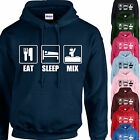 EAT, SLEEP, MIX HOODIE ADULT/KIDS - PERSONALISED - DJ MIXING GIFT XMAS TOP DJING