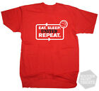 Funny Eat Sleep Manchester United Repeat T-Shirt Football Premier League Soccer