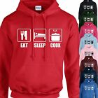 EAT, SLEEP, COOK HOODIE ADULT/KIDS - PERSONALISED - TOP COOKING CHEF GIFT
