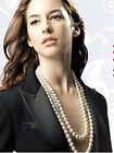 """8-9mm 48"""",50"""",52"""",54"""",56"""" AAA Akoya Natural White Pearl Rope Necklace Handmade"""