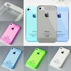 For iPhone 4 4S 5 5S Soft Transparent Dust proof Anti-wear Rear Case Cover New