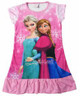 Disney Frozen Elsa & Anna Children Kids Girls Dress Pajama Nightwear 3-10Yr Pink