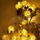 20 LED Battery Operated Rose Flower Bedroom Fairy String Lights 1.9m Decoration