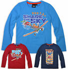 Boys Disney Planes T Shirt Kids Dusty Top Long Sleeve New Age Size 3 4 6 8 Years