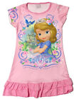 Disney Princess Sofia the First Girl Pajama Night Gown Dress 3-10 Years PINK