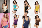 New Sexy Women Lace V NECK Hollow-Out Camisole Underwear Vest Tops Blouse Shirt