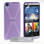 Accessories For HTC Desire 820 Soft Silicone Gel X-Line Phone Skin Case Cover UK