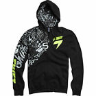 NEW SHIFT MX MASKED FRONT ZIP UP HOODY BLACK HOODIE SWEATSHIRT MENS GUYS ADULT