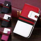 Deluxe Synthetic Leather Magnetic Flip Wallet Case Cover For Apple iPhone 4/4S