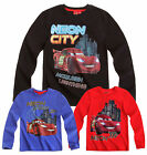 Boys Disney Cars T Shirt Kids Pixar Mcqueen Long Sleeve Top New 3 4 5 6 8 Years
