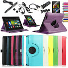 "Accessory Rotating PU Leather Case Cover Stand For Amazon Kindle Fire HD 7"" 2013"