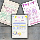 Personalised Girls Christening Baptism Invitations Invites