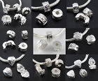 Lot 5pc MIX 925 Silver Plated Stopper Clip Locks Beads Fit Charms Bracelet Jf507