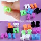 Pick Flexible Silicone Square Flared Ear Tunnel Plugs Expander Stretcher Hot