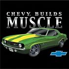 CHEVY BUILDS MUSCLE T-SHIRT AMERICAN CARS 67 CAMARO Z28