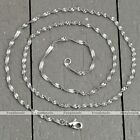 LOT Women Unisex White Gold Plated Water Wave Chain Lobster Clasp Necklace Gift