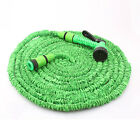 25FT Latex Expanding Flexible Garden Water Hose Pipe Car Washing With Nozzle
