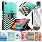 For Apple iPad MINI 360 Rotating w Bluetooth Keyboard Leather Case Cover Stand