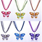 50% OFF New Fashion Women Jewelry Crystal Butterfly Rhinestone Pendant Necklace