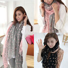 New Fashion Women Long Candy color Scarf Wrap Shawl Stole Soft Scarves Polka Dot