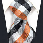 """Multi-color Checked Mens Necktie Extra Long Size Ties 60.6"""" 63"""" P1 Classic New"""