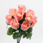 New 1 Bouquet 11 Heads Rose Artificial Silk Flower For Wedding And Home Decor