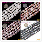 "Freeform  Freshwater Pearl Gemstone Loose Beads 15"" 9-10x10-12mm White Grey Pink"