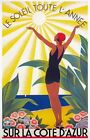 TX361 Vintage Cote D'Azur France French Travel Poster Broders Print A3/A4