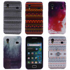 Stripe Wave Bottom Flame Hard Back Skin Case Cover for Samsung Galaxy Ace S5830