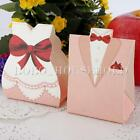 50/100Pcs Tuxedo Dress Candy Box Gift Boxes Wedding Bomboniere Party Favour