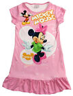 Disney Minnie Mouse Girls Pajama PJ Night Wear Gown Dress 3-10 Years Light Pink