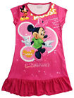 Disney Minnie Mouse Girls Pajama PJ Night Wear Gown Dress 3-10 Years Hot Pink