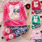 Baby Girls Kids Toddlers Cute Rabbit Coat Pants Outwear Outfit Hoodie Clothes --