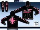 Hoodie: Pink Mustang Multi-Logo Embroidered Sweatshirt Ford Ladies Hoodie LOOK!