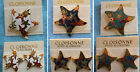 NEW-HANDPAINTED CLOISONNE STARFISH PIN & MATCHING PIERCED EARRINGS SET-EXCLUSIVE