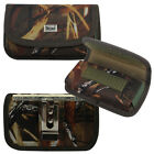 Camo Canvas Horizontal Rugged Metal Clip Card Case for phones. (8 sizes)