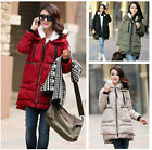 Fashion pregnant womens long sleeve winter chunky cotton coats maternity jackets