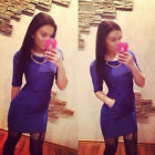1X Women's Sexy Solid Casual Short Party Evening Cocktail Mini Casual Dress