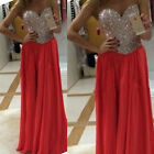 Xmas Charming Sweetheart Chiffon Formal Party Evening Long Prom Dresses