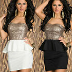 Sexy Women Lady Sleeveless Slim Sequin Bodycon Party Cocktail Evening Club Dress