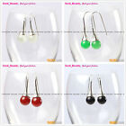 Fashion 10mm Round Ball Beads Tibetan Silver Dangle Earring 1 pair Seed_Beauty
